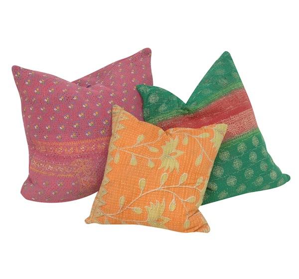 Karana Kantha Pillows (set of 3)