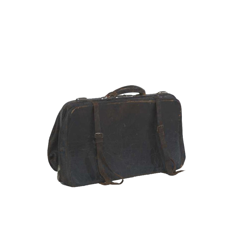 Hudson Black Leather Bag