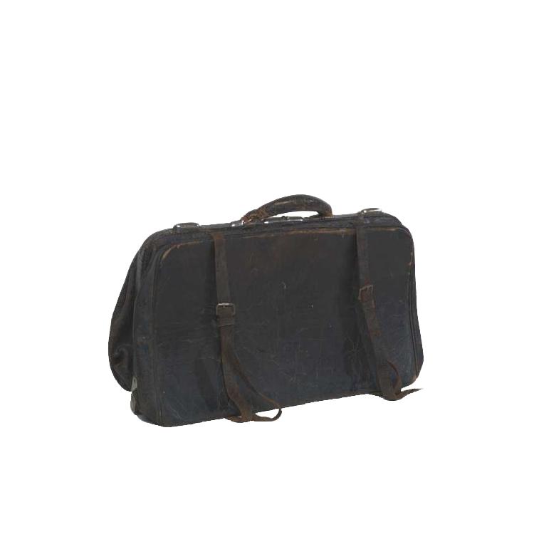 Hudson Black Leather Bag