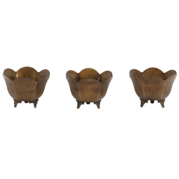 Tulip Brass Pots (set of 3)
