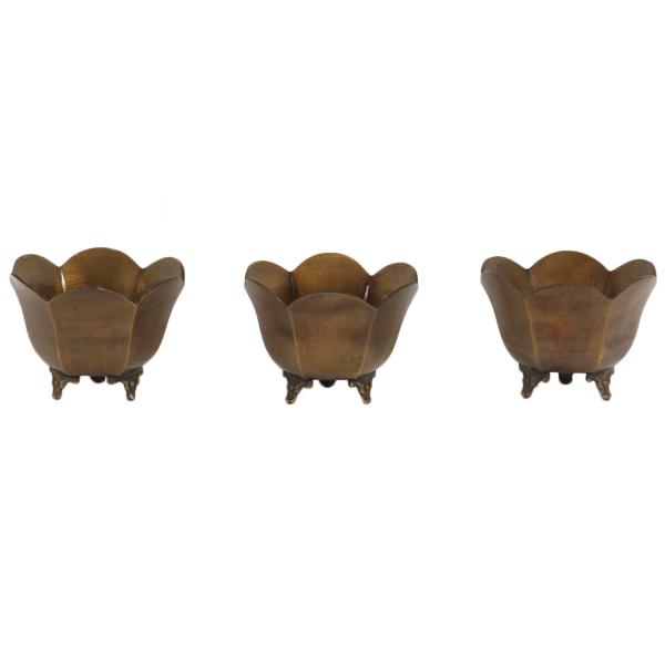 Tulip Brass Pots (set of 3)