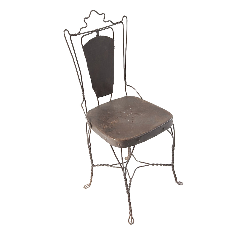 Nelson Dark Brown Metal Chair