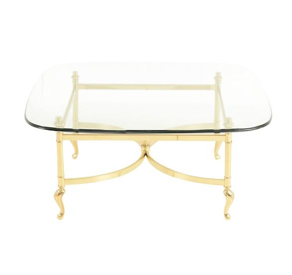 Delleker Brass Coffee Table