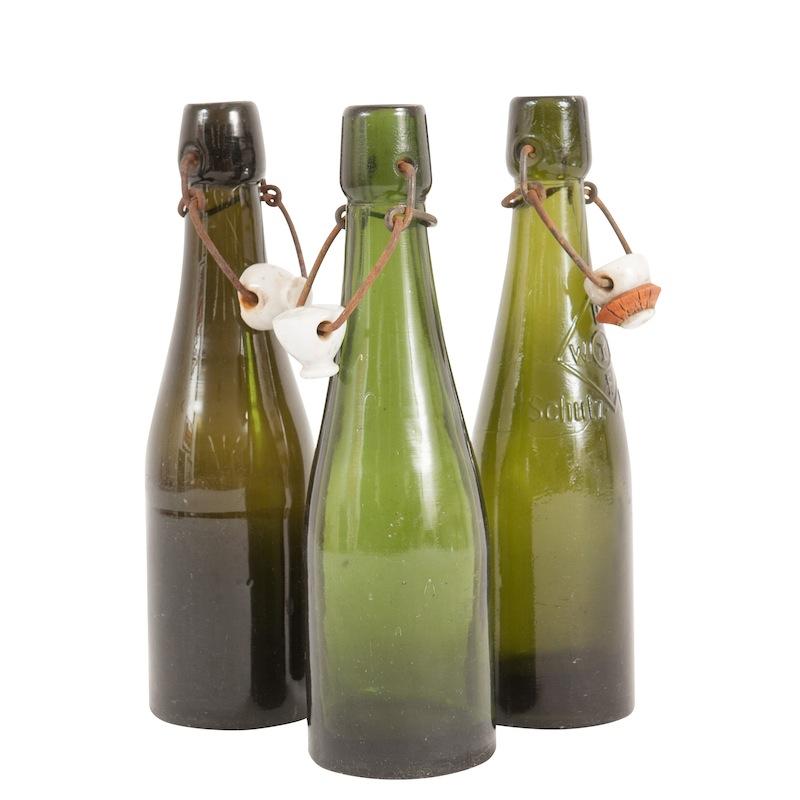 Coby Green Beer Bottles (set of 5)