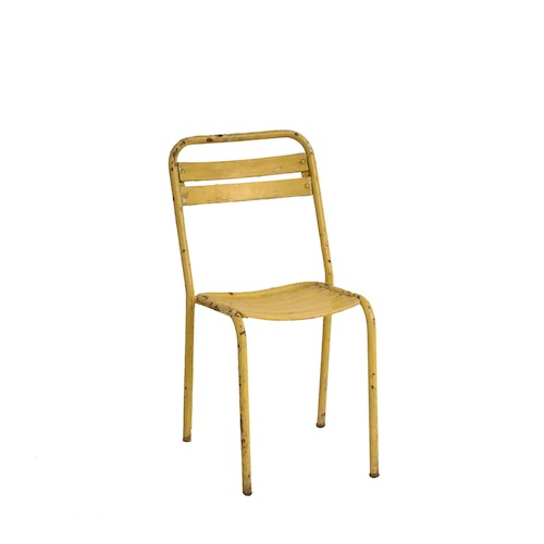 Darren Yellow Metal Chair