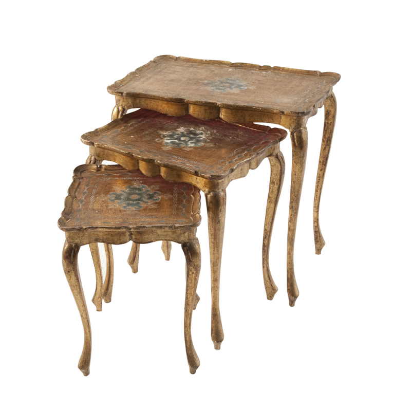 Powell Gold Nesting Tables (set of 3)