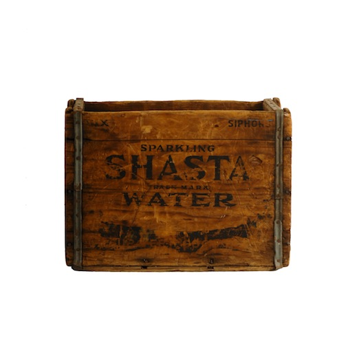 Shasta Wooden Crate