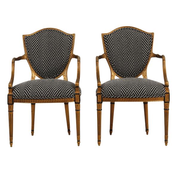 Wonderful Donahue Herringbone Chairs