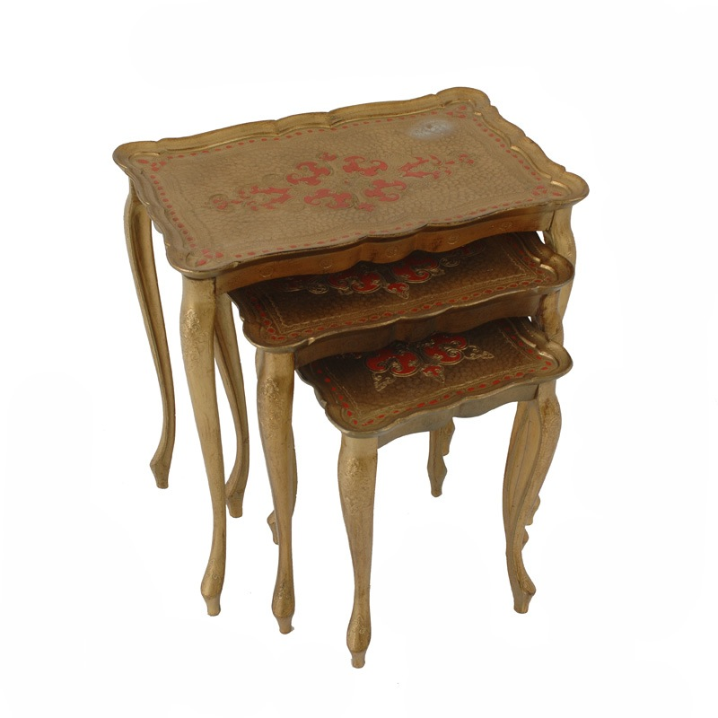 Dasher Gold Nesting Tables (Set of 3)