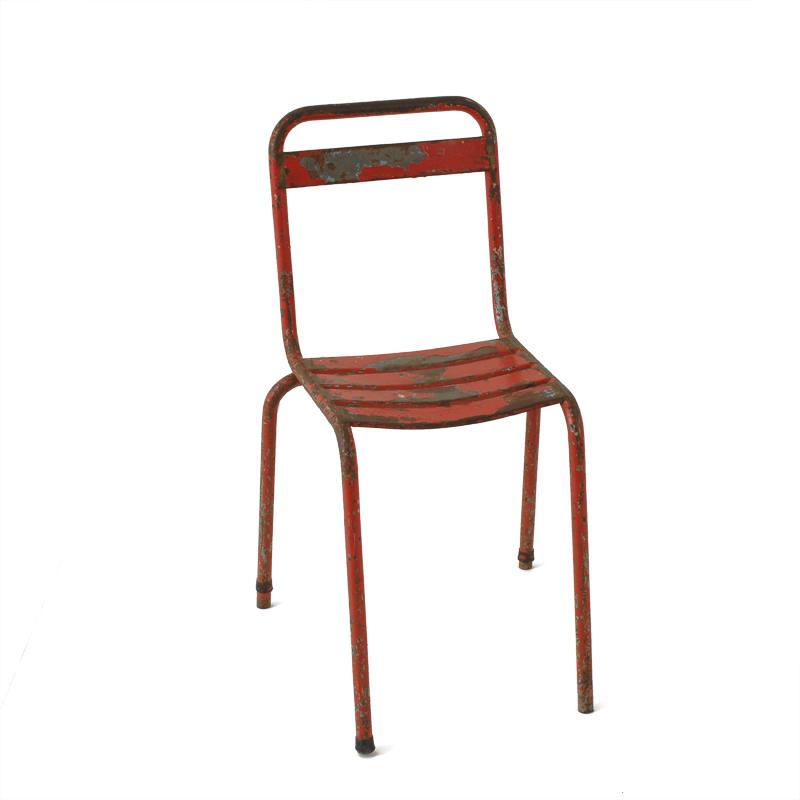 Parks Red Metal Chairs
