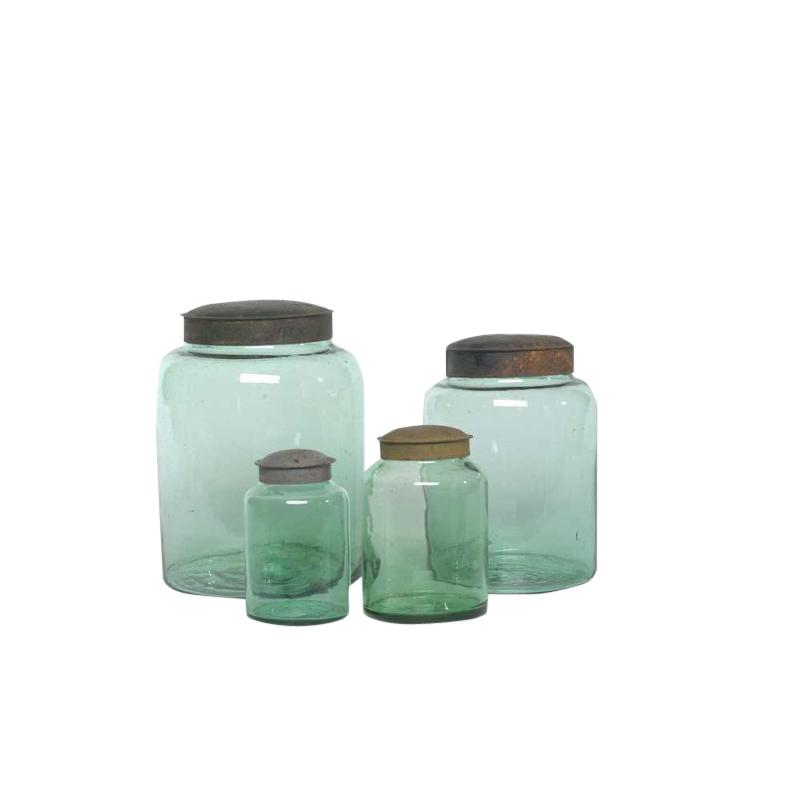 Gina Green Glass Jars (set of 3)