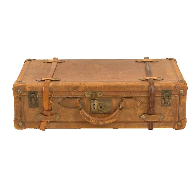 Dwight Leather Suitcase