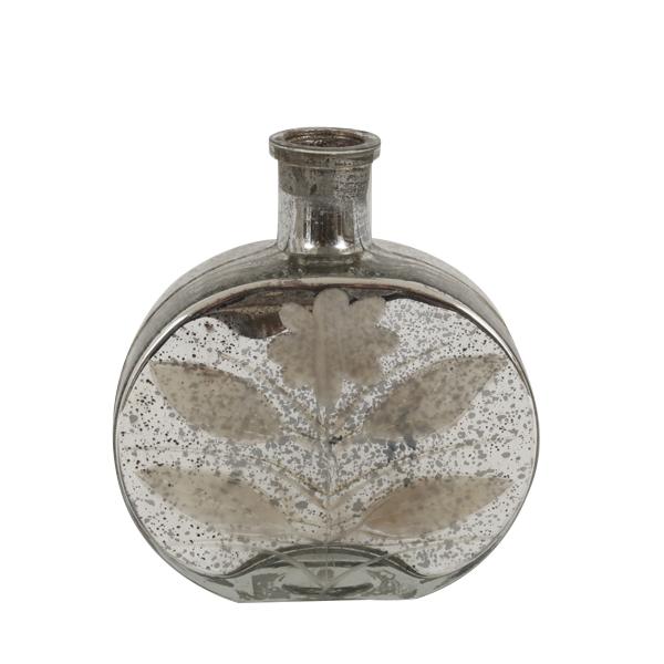 Peony Mercury Glass Vase