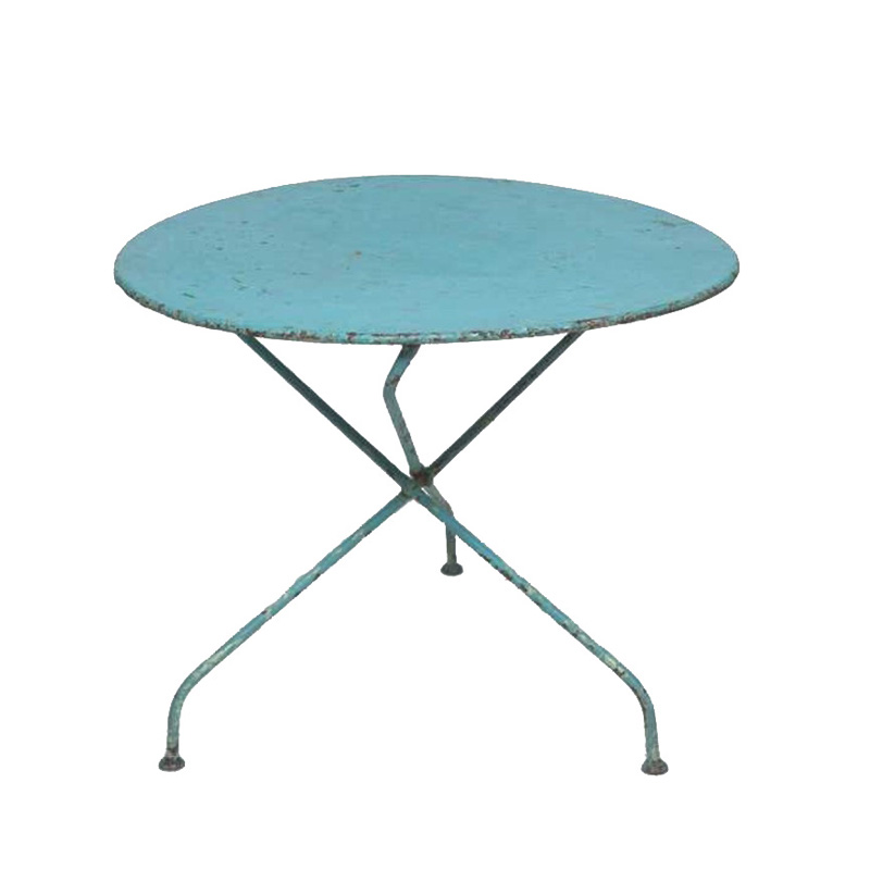Trish Turquoise Metal Table