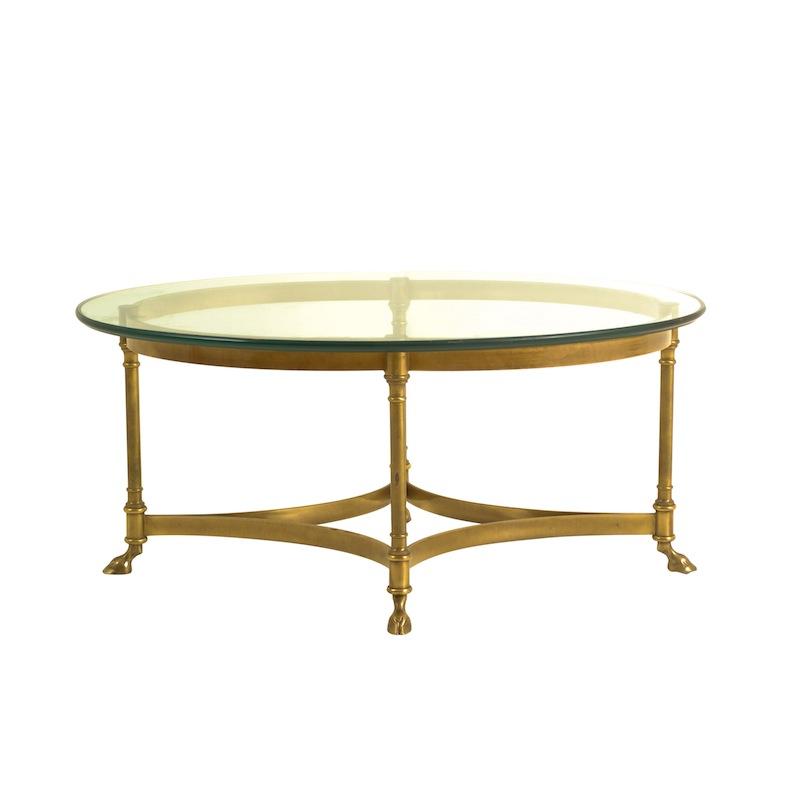 Carmela Brass Coffee Table