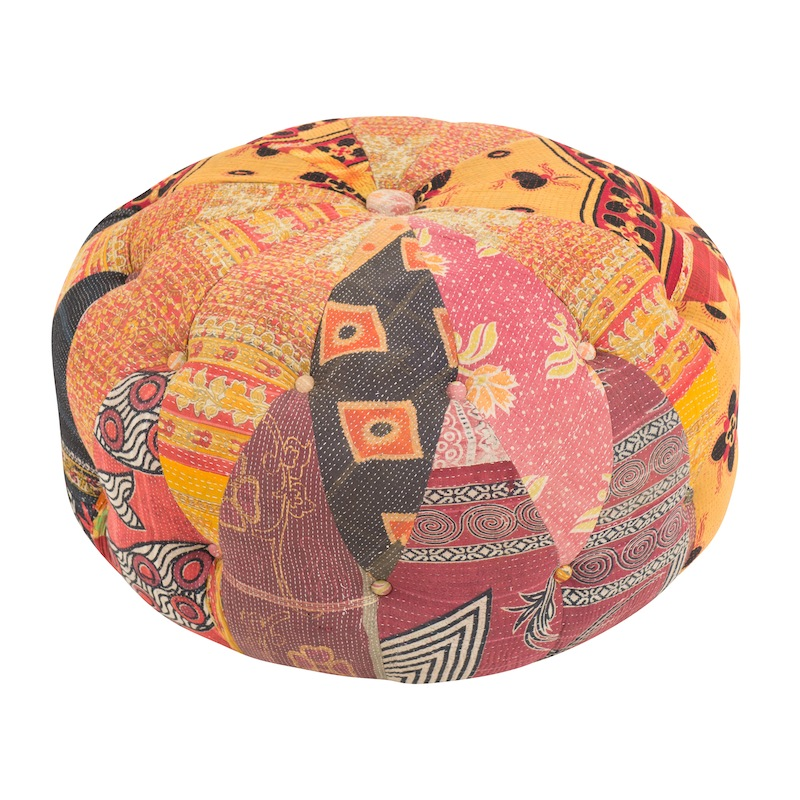 Linley Kantha Button-Tufted Cushions