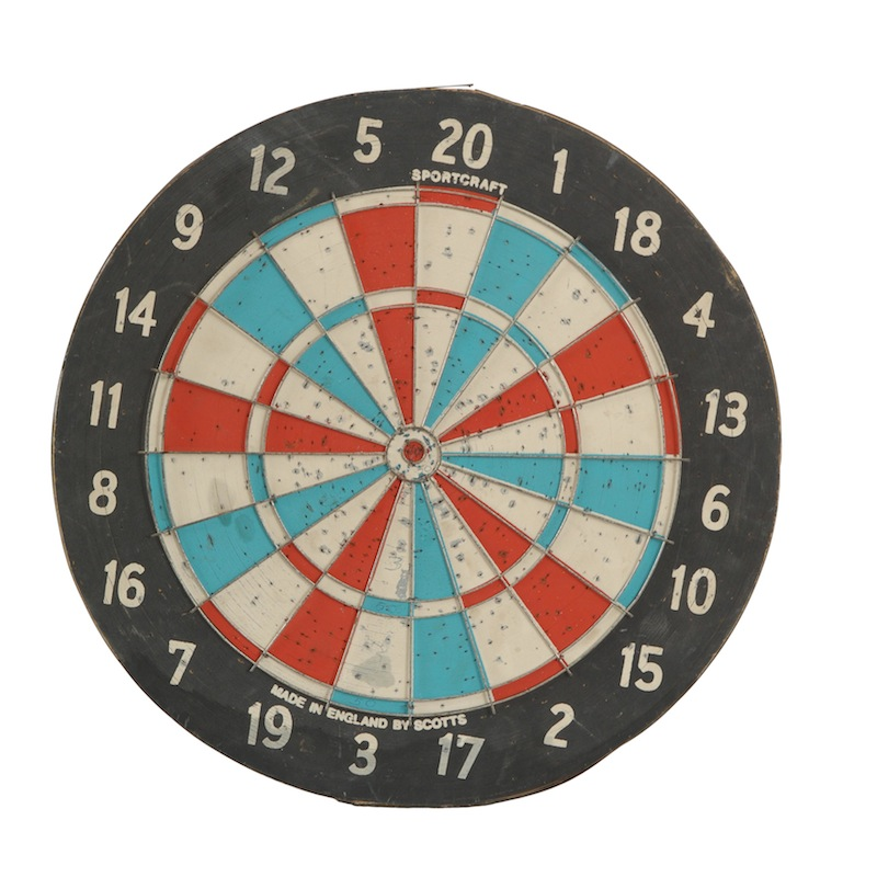 Sharp Vintage Dartboard