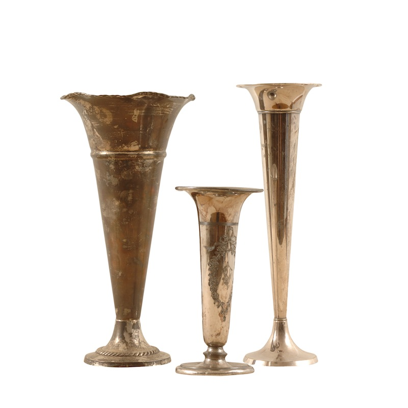 Soto Silver Flutes (set of 3)