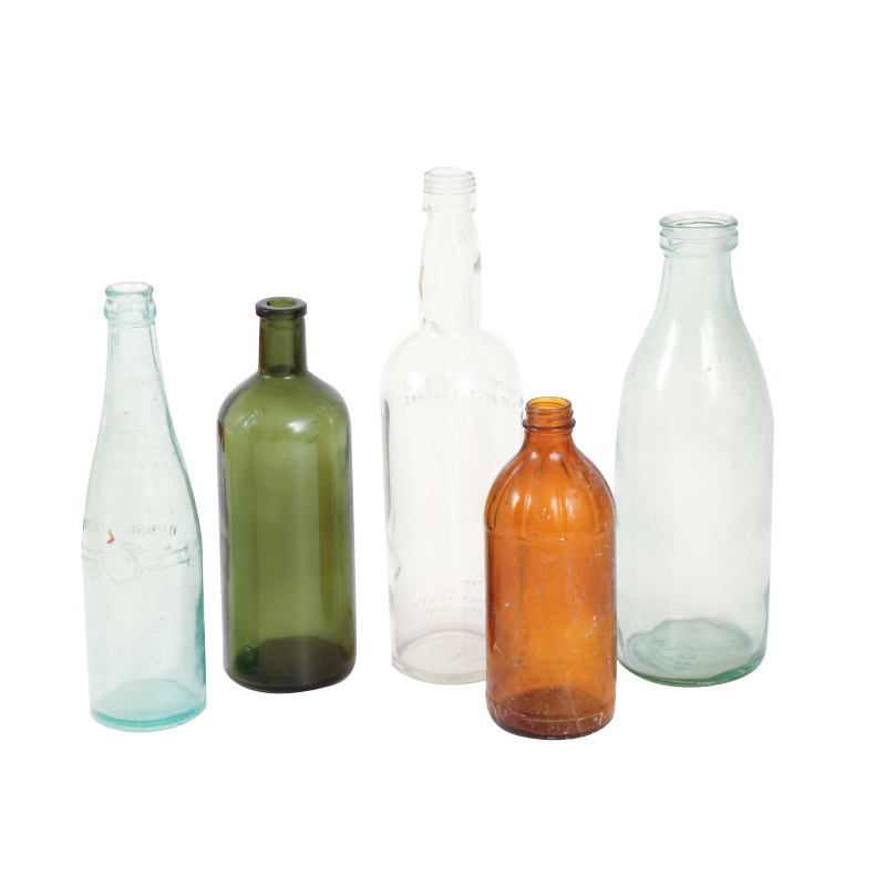 Agnes Colored Glass Bottles (set of 5)