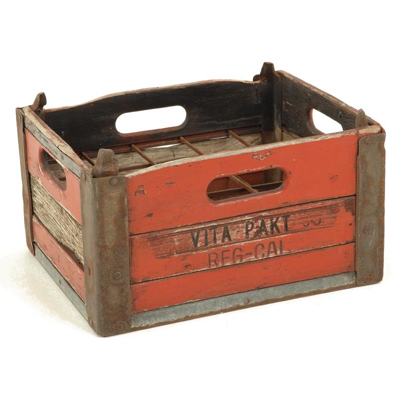 Wallis Red Bottle Crate