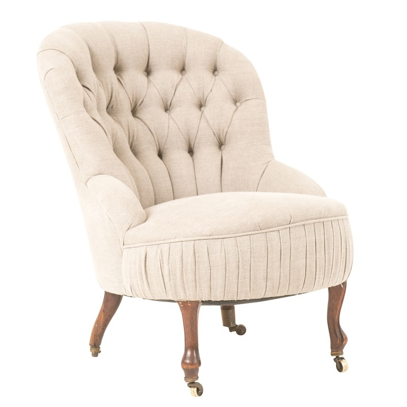 Voltaire Button-Tufted Chairs
