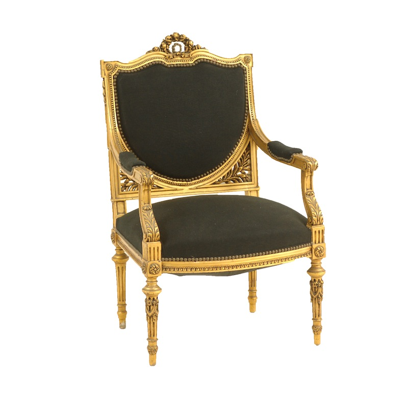 Sanderson Black Armchair