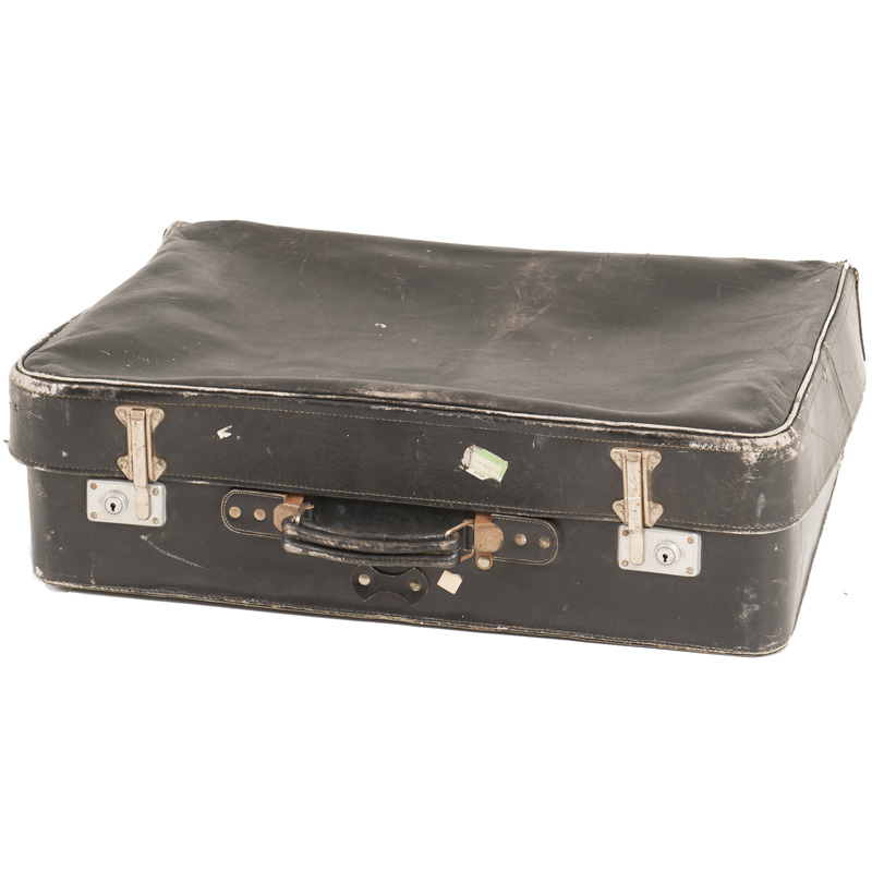 Herold Black Leather Suitcase