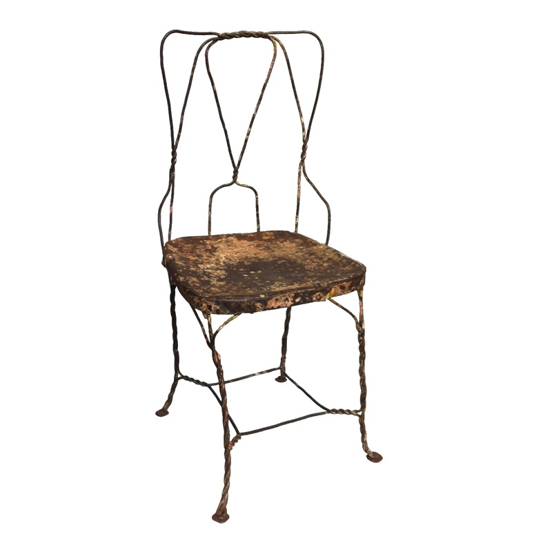Nelson Tan Metal Wire Chair