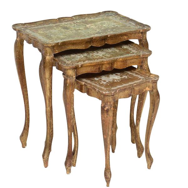 Verdin Gold Nesting Tables