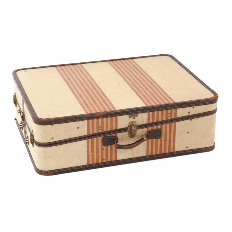 Edmond Striped Suitcase