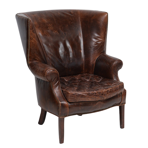 Bourbon Leather Armchairs