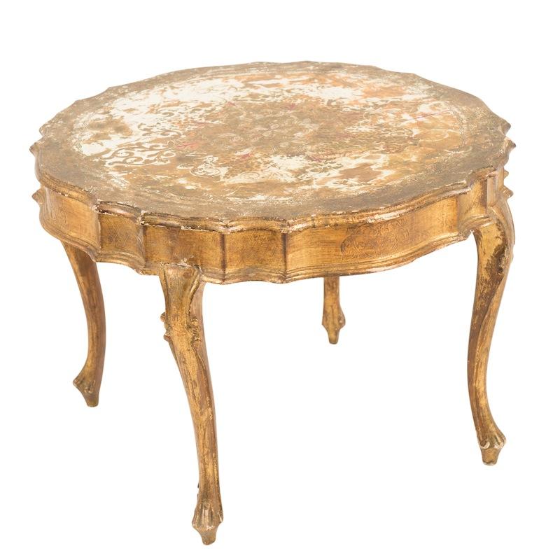 Ulysses Gold Side Table