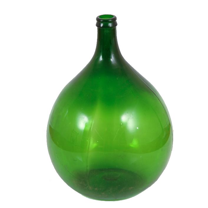Noel Green Glass Demijohns