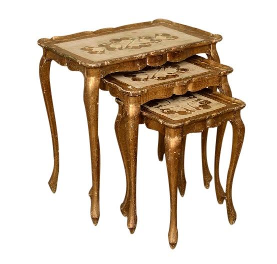 Seurat Gold Nesting Tables (set of 3)