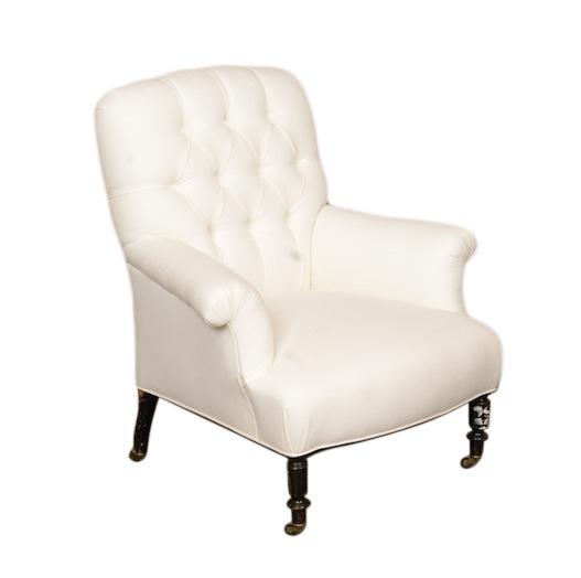 Sutro White Armchairs
