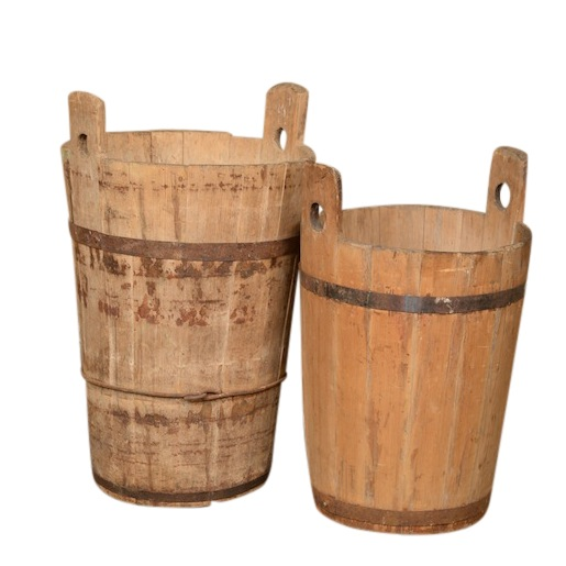 Tiguan Wooden Bins (pair)