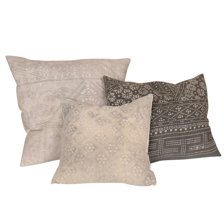 Comet Grey Indigo Pillows (set of 3)
