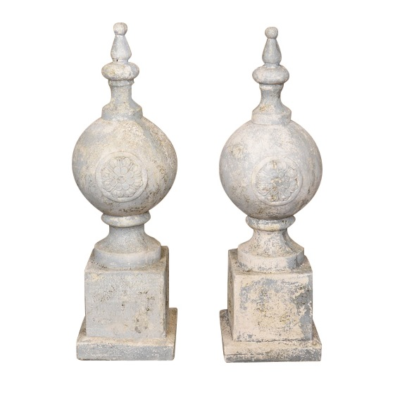 Hannaford Cement Ornaments (pair)