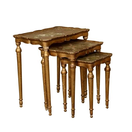 Braunfels Gold Nesting Tables (set of 3)