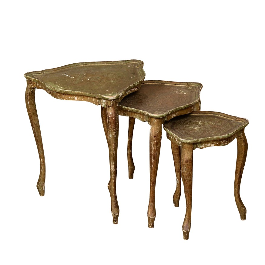 Marchesa Gold Nesting Tables (set of 3)