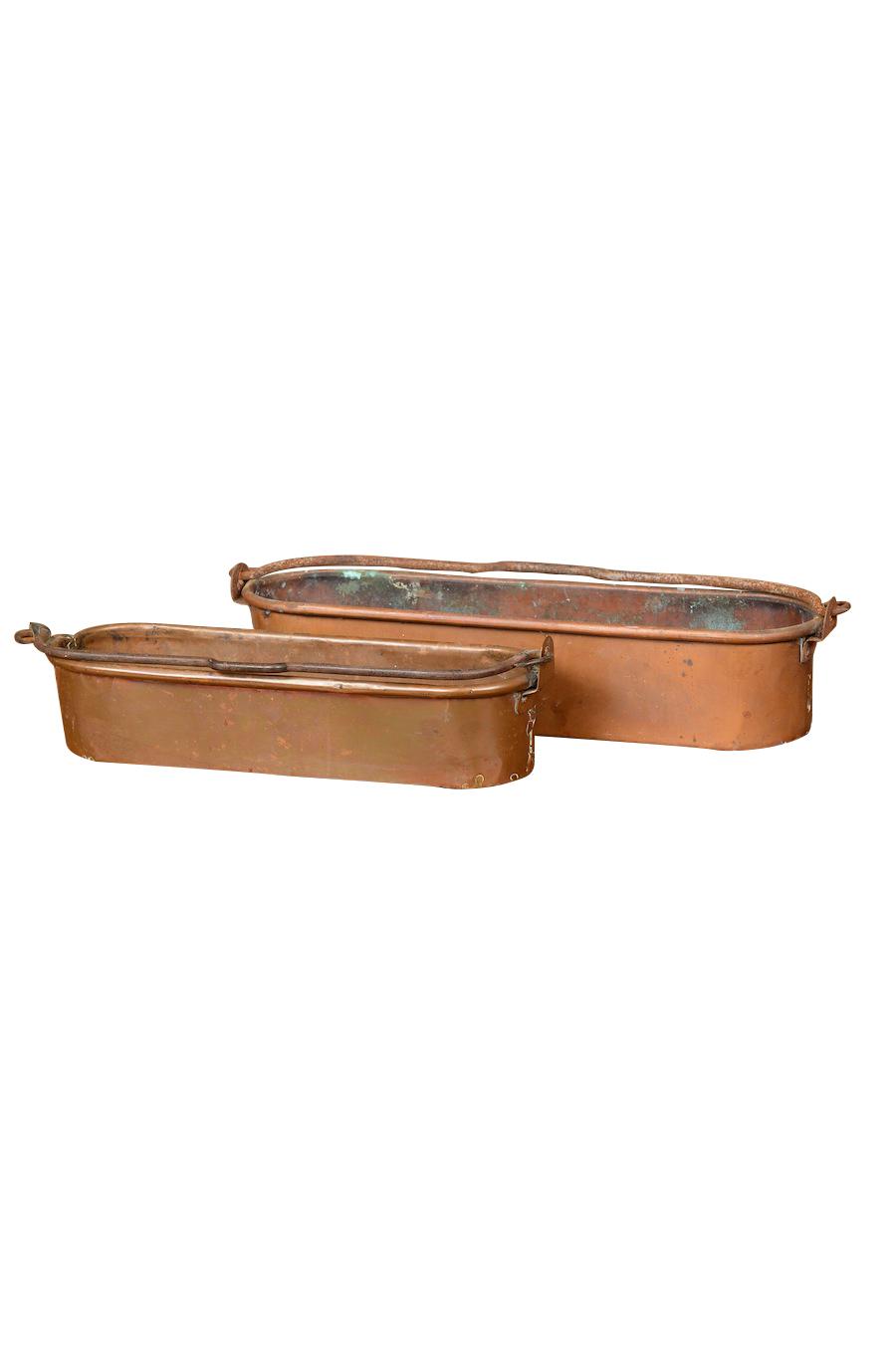 Manuella Copper Bins (pair)