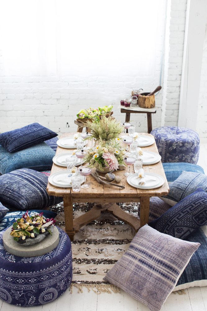 Low Dining Tables Cushion Seating Found Vintage Rentals