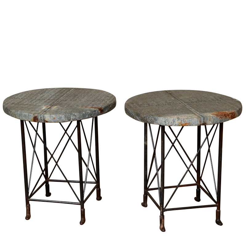 Gideon Industrial Side Tables Found Vintage Rentals