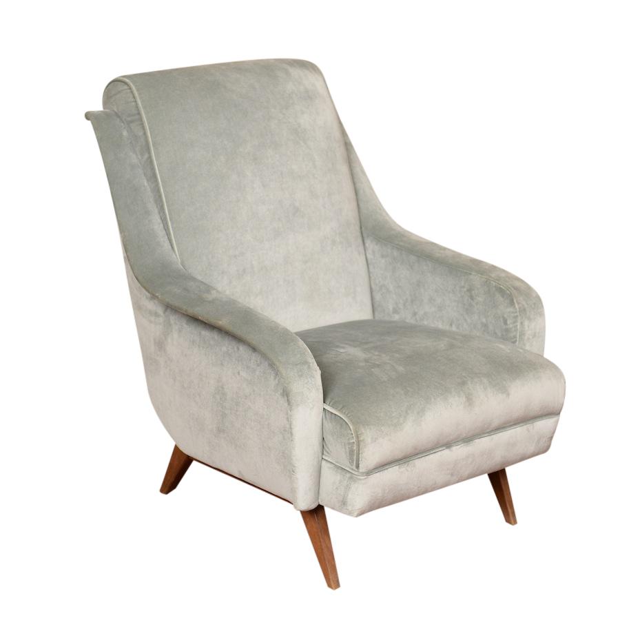 Shulman Grey Armchairs Found Vintage Rentals