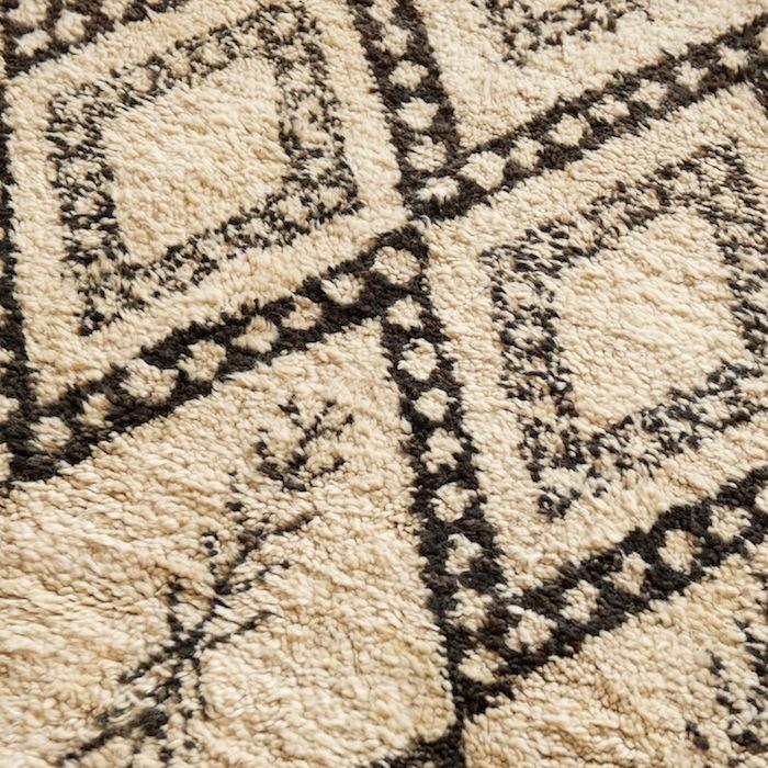 vulf beni ourain rug found vintage rentals. Black Bedroom Furniture Sets. Home Design Ideas