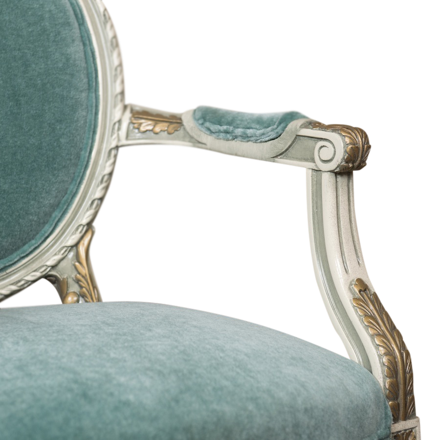 Atlantis Teal Armchair | Found Rentals