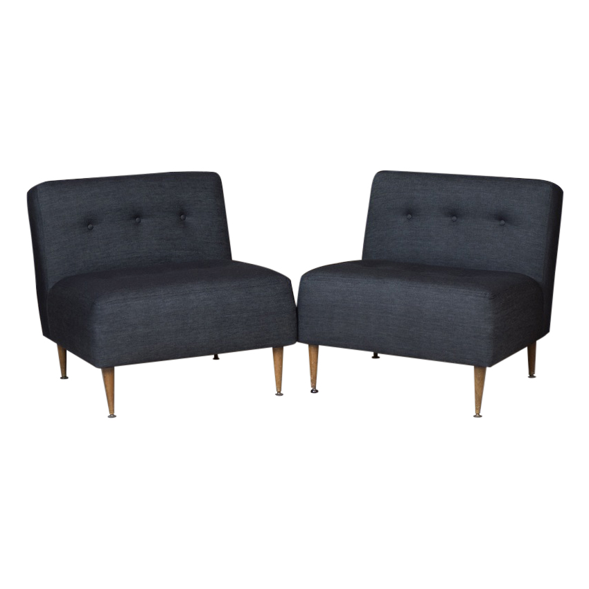 Charmant Bowler Denim Chairs