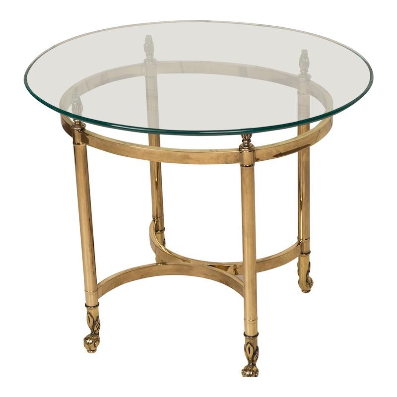Jenner Brass Side Table