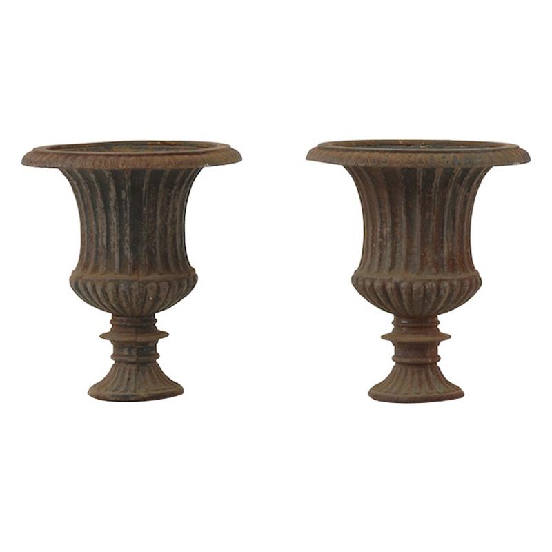 Wilshire Iron Urns (pair)