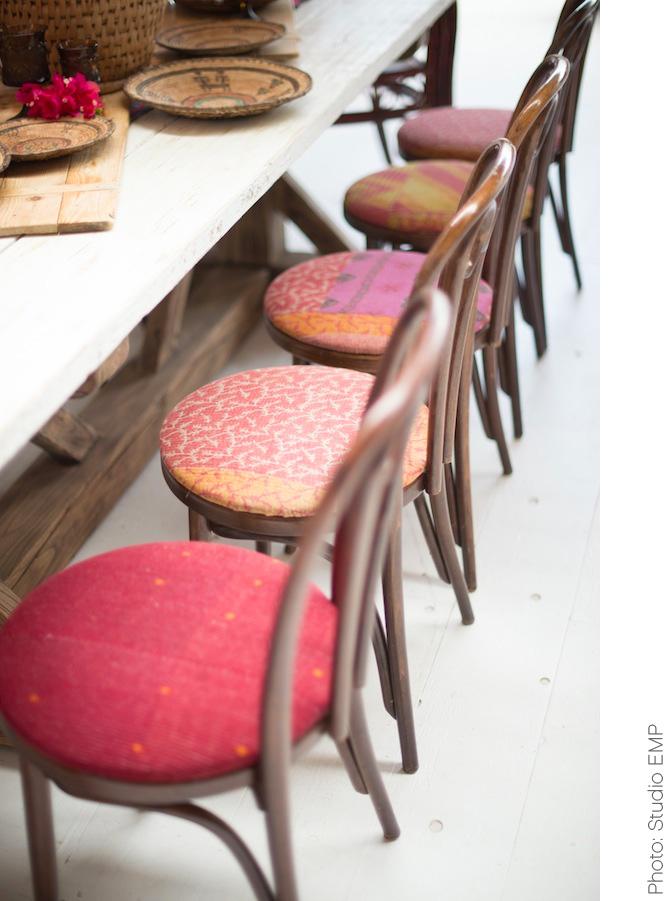 Brett Kantha Upholstered Bentwood Chairs